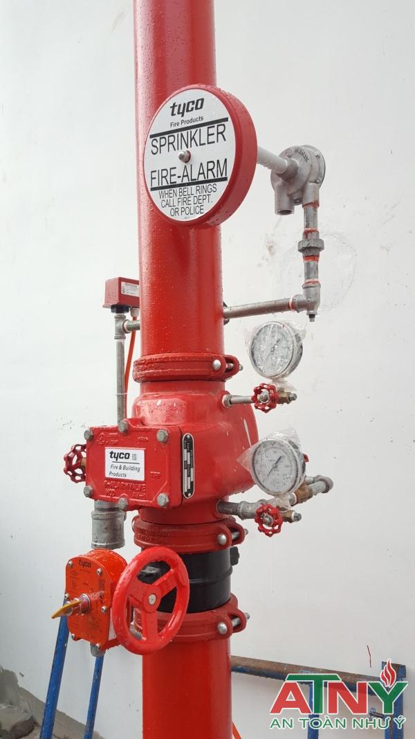Bộ van báo động Tyco AV-1-300:thân van,bộ ống nối,chuông nước,bình điều áp,công tắc áp lực