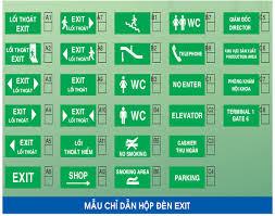 Đèn sạc thoát hiểm exit có nhiều mẫu lựa chọn