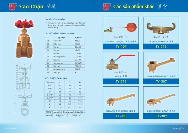 Van đồng chữa cháy Đài Loan và nắp chụp bằng đồng D50,D65