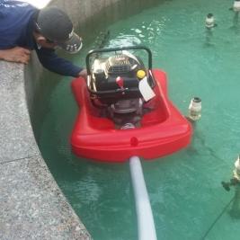 Máy bơm phao thả nổi trên mặt nước 6hp hiệu Aquafast của Pháp