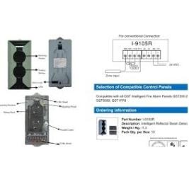 Hưỡng dẫn lắp đặt đầu báo khói beam gst dùng gương phản xạ C-9105R,I-9105R