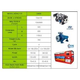 Cung cấp giá động cơ diesel hyundai nhập khẩu D4BB-80hp,D4BH-100hp,D4DH-130hp